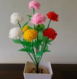 cara membuat bunga dari kresek yang mudah