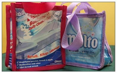 cara membuat tas dari plastik