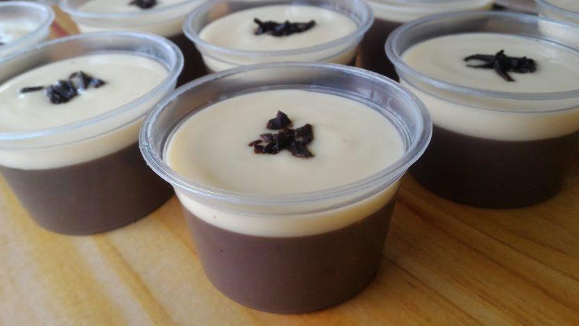 cara membuat puding coklat dengan vla
