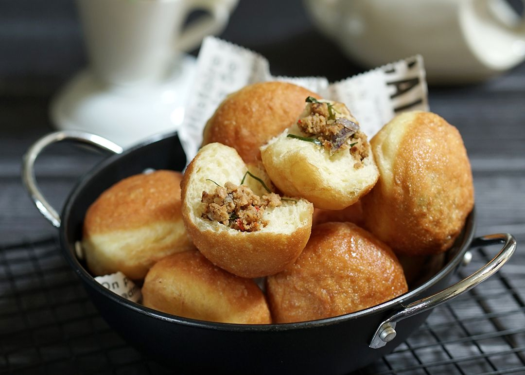 caa membuat roti goreng mengembang